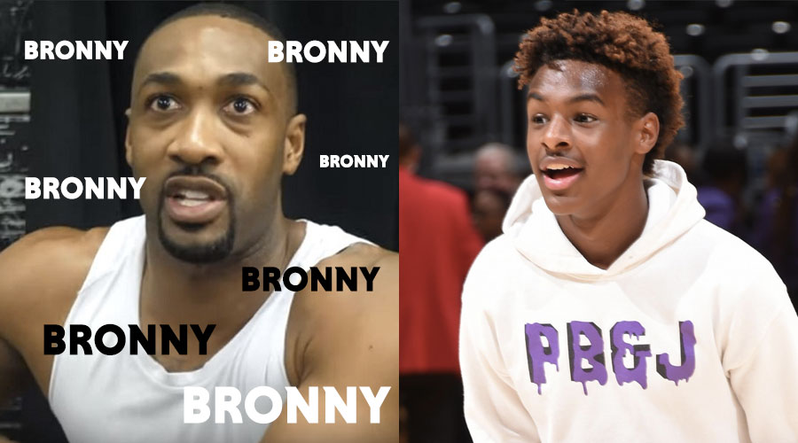 bronny james gilbert arenas
