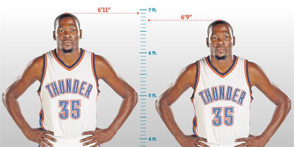 Kevin Durant taille