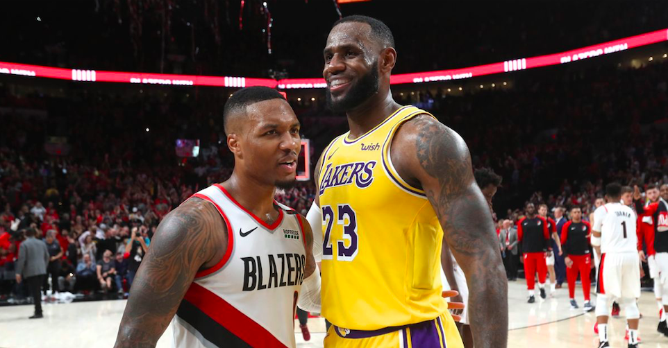 damian lillard lebron james