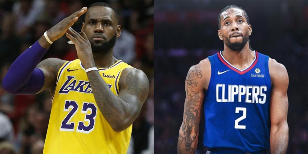 Lebron James Lakers Kawhi Leonard Clippers