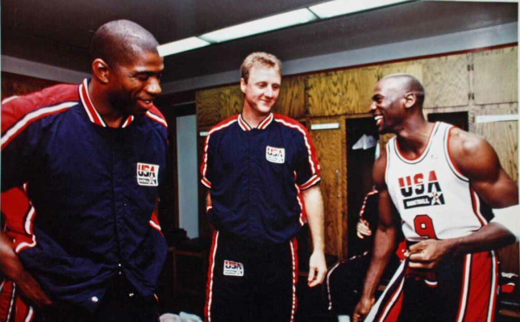 Magic Johnson, Larry Bird et Michael Jordan
