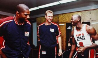 Magic Johnson, Larry Bird et Michael Jordan