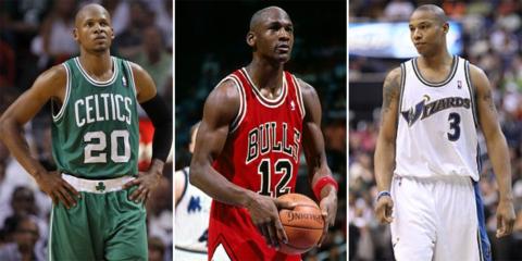 Ray Allen, Michael Jordan et Caron Butler