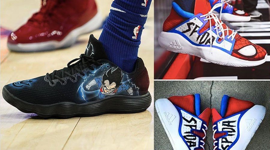 sneakers customs joueurs nba