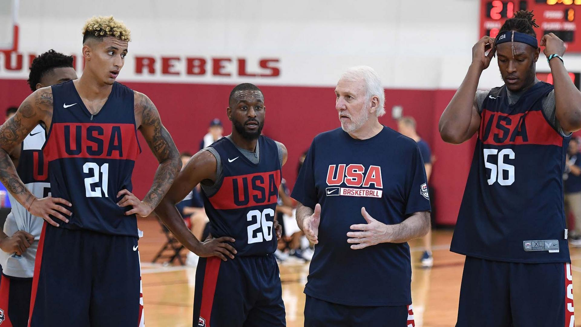 Team USA Popovich Kuzma Walker