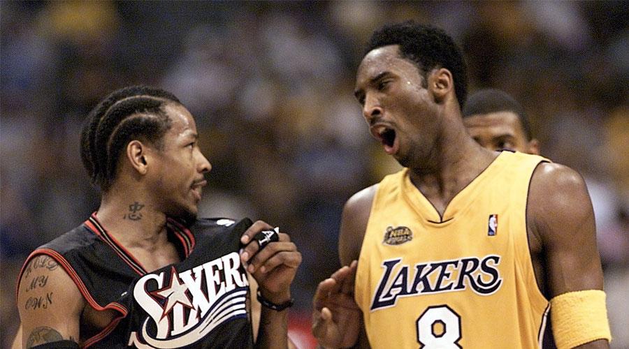 Kobe Bryant et Allen Iverson en plein trash-talking
