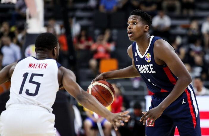 frank ntilikina face à kemba walker pendant france/team usa