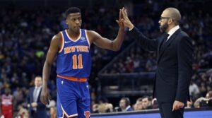 NBA – Ntilikina et Fizdale réagissent au premier match titulaire du Français