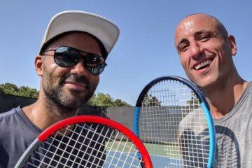 manu ginobili et tony parker tennis