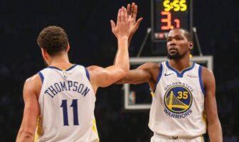 Klay Thompson retenir Kevin Durant