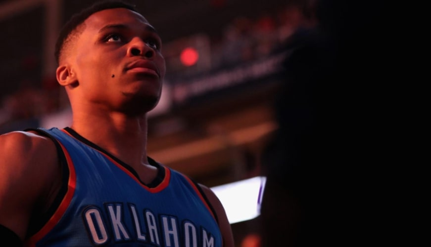russell westbrook sous le maillot du Thunder