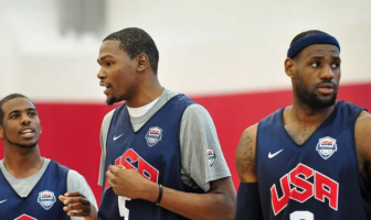Team USA LeBron James Kevin Durant