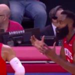 NBA – Westbrook et Harden se prennent déjà la tête pendant un temps mort