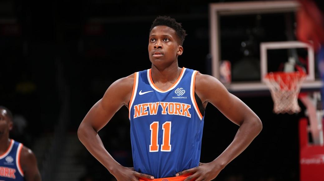 Frank Ntilikina avec les New York Knicks