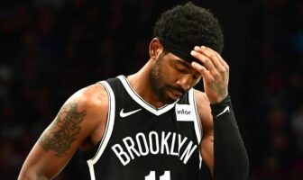 Kyrie Irving des Brooklyn Nets visiblement déçu