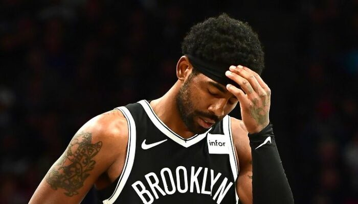 Kyrie Irving des Brooklyn Nets visiblement déçu