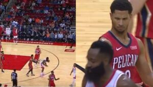 NBA – James Harden se tape la tête avec le ballon, Josh Hart se moque