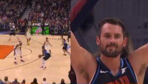 NBA – La grosse réaction de Kevin Love au premier 3 points en carrière de Tristan Thompson