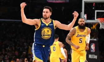 Klay Thompson face aux Lakers