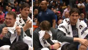 NBA – Boban Marjanovic secoue Luka Doncic sur le banc