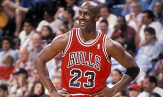 Michael Jordan sous le maillot des Chicago Bulls