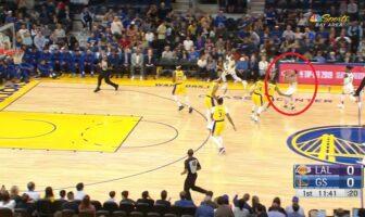 Steph Curry premier tir Chase Center