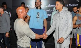 The Rock et Kyle Kuzma chez les Lakers