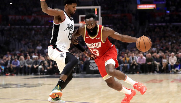James Harden face à Paul George