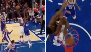 NBA – Le gros poster de Julius Randle sur la tête des Sixers !