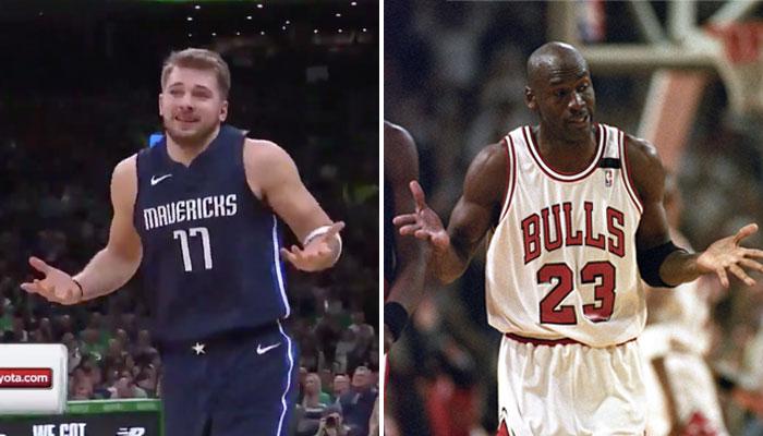 Luka Doncic rend hommage a Michael Jordan après un gros 3 points