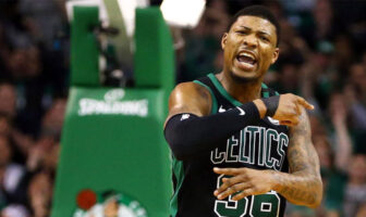 Marcus Smart des Boston Celtics énervé