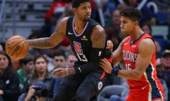 Paul George lors de son premier match avec les Clippers