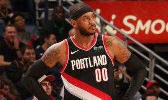 Carmelo Anthony arbore le numéro 00 avec Portland