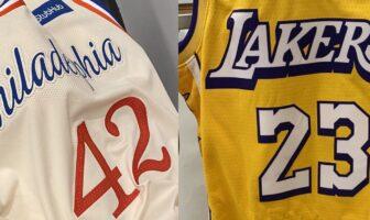 City Edition Philadelphia 76ers et Los Angeles Lakers