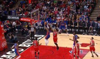 Le gros dunk de Derrick Rose face aux Bulls