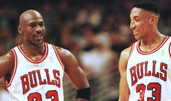 Michael Jordan et Scottie Pippen sous le maillot des Bulls