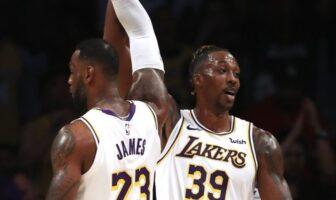 LeBron et Dwight s'éclatent avant le début du match