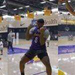 NBA – LeBron James comme un enfant à l'entraînement des Lakers