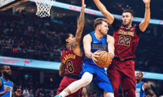 Luka Doncic face aux Cleveland Cavaliers