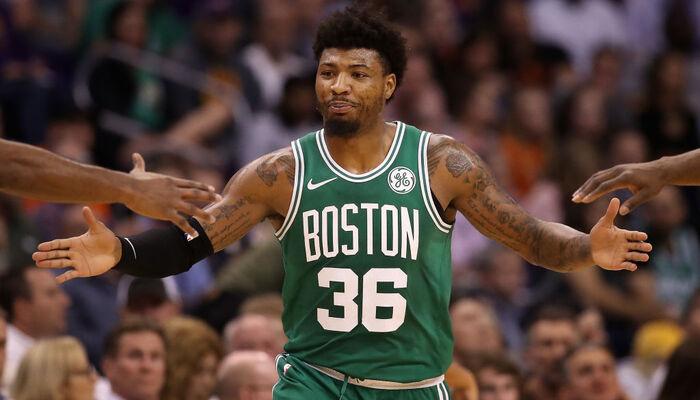 Marcus Smart sous le maillot des Celtics