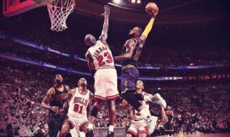 Michael Jordan et LeBron James au duel durant un Bulls vs Cavs fictif