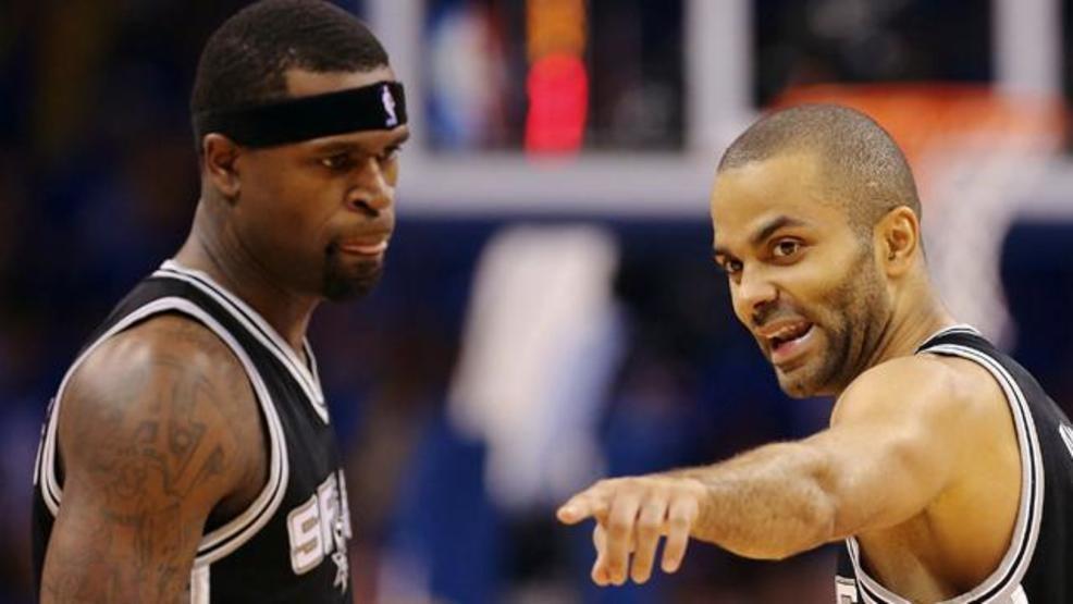 Stephen Jackson et Tony Parker sous le maillot des Spurs
