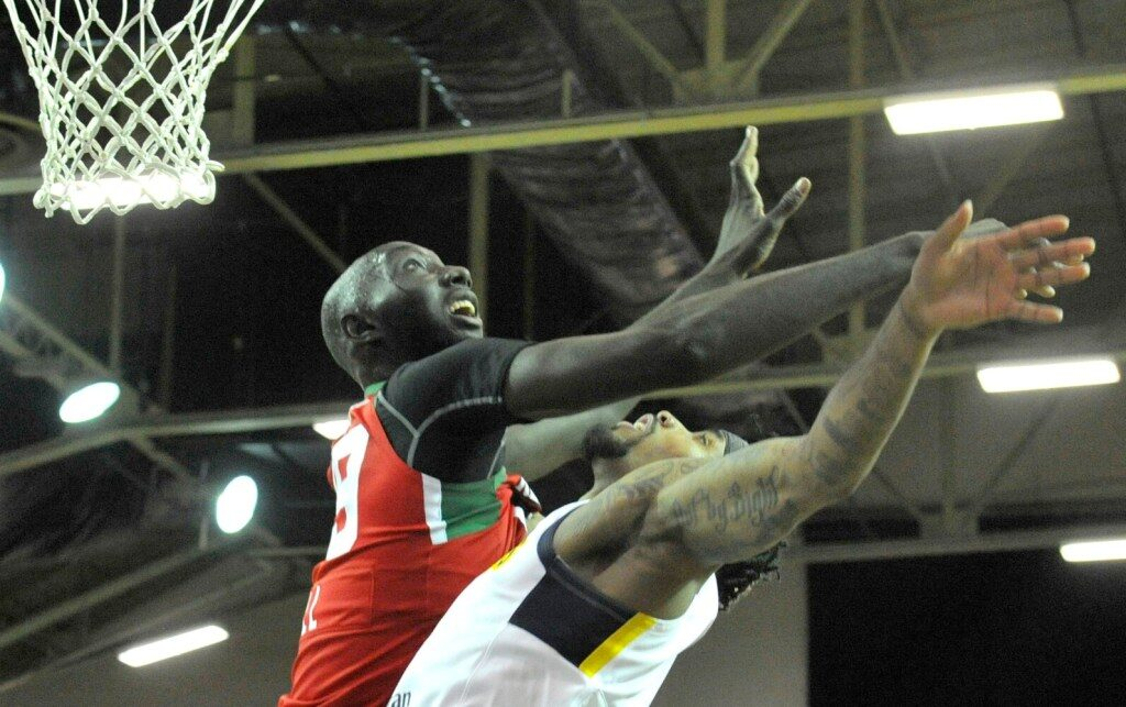 Tacko Fall sous le maillot des Red Claws du Maine