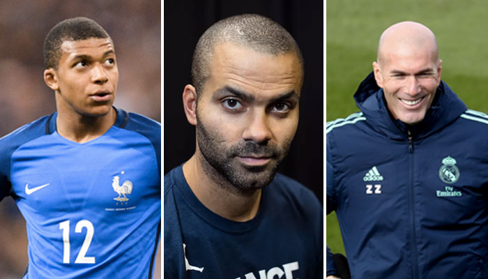 Tony Parker Zinedine Zidane Kylian Mbappe