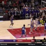 NBA – L'impressionnante passe dans le dos de Trae Young
