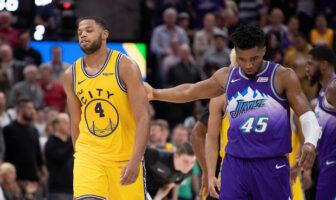 Donovan Mitchell face aux Warriors pour le Jazz