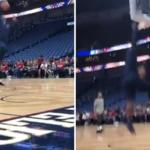 NBA – Zion Williamson filmé en train de dunker à nouveau !