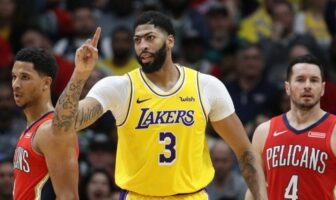 Anthony Davis sous le maillot des Lakers