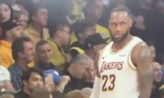 LeBron recadré par une fan
