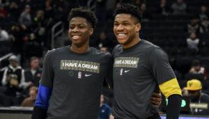 NBA – Silencieux jusque là, Giannis réagit enfin au titre de son petit frère